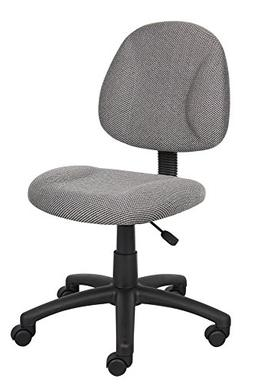 Boss Office Products B315-GY Perfect Posture Delux Fabric Ta