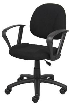 Boss Office Products B317-BK Perfect Posture Delux Fabric Ta
