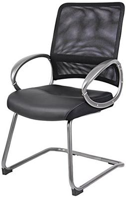 Boss Office Products B6409 Mesh Back Guest Chair with Pewter