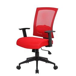 Boss Office Products B6706-RD Mesh Back Task Chair in Red