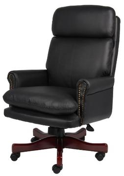 Boss Office Products B850-BK Traditional Back Executive Chai
