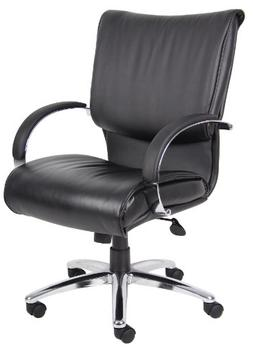 Boss B9706C Mid Back Black Leatherplus Executive Chair With