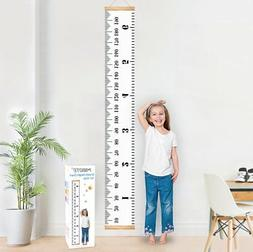 Baby Growth Chart Handing Ruler Wall Decor for Kids, Canvas