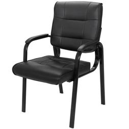 Back Smooth Leather Office Desk Computer Guest Chair with Ar