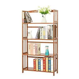 maxgoods Bamboo Bookcase 4-Tier,Easy Assembly Heavy Duty Boo