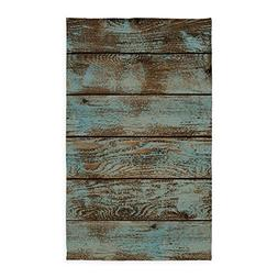 CafePress Rustic Western Turquoise Barn Wood Decorative Area