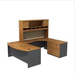 BBF Series C Bowfront U Station with 2 Door Hutch and 2 Draw