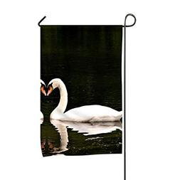 yyoungsell Beautiful Swans Garden Flag Double-Sided Yard Fla