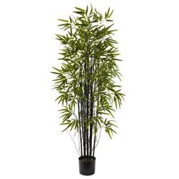 Nearly Natural 5' Black Bamboo Tree