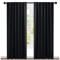 NICETOWN Black Out Curtain Panels for Bedroom -  W52 x L84,