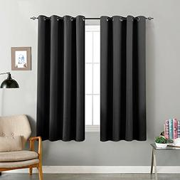 Blackout Curtains for Bedroom 63 inches Long Triple Weave Wi