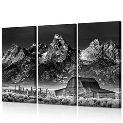 Kreative Arts Black and White Canvas Prints Wall Art 3 Piece
