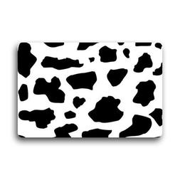 SeaTurtle Black and White Milk Cow Print Pattern Doormat Doo