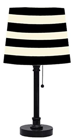 Urban Shop Black and White Striped Table Lamp
