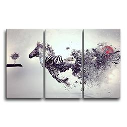 So Crazy Art 3 Piece Black And White Wall Art Painting Creat