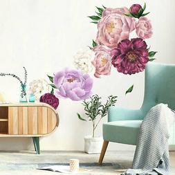 Blossom Peony Flower Wall Decal Art Mural Sticker Living Roo