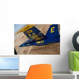 Wallmonkeys Blue Angels Perform over Wall Mural by Peel and