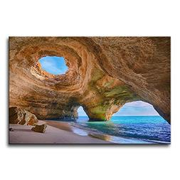 So Crazy Art Blue Wall Art Painting Algarve Caves Portugal S