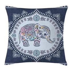 Ambesonne Bohemian Throw Pillow Cushion Cover, Bohemian Elep