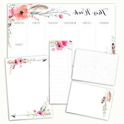 Boho Spirit Adhesive Sticky Note Pack - 5 Pads - 50 Sheets/p