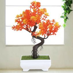Bonsai Tree In Square Pot Artificial Plant Office Home Indoo