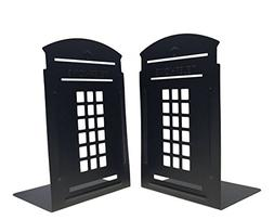 Bookends Pair Non-Slip Heavy Metal Durable Sturdy Strong Boo