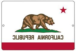 Rogue River Tactical California State Flag Metal Tin Sign Wa