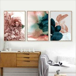 Canvas Painting Leaf Flower Picture Art Poster Wall Office L