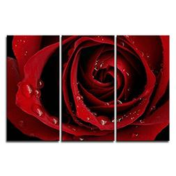 Canvas Print Wall Art Painting For Home Decor Front Red Rose