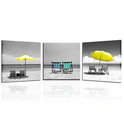 Kreative Arts 3 Pieces Canvas Print Wall Art Black And White