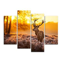 Canvas Print Wall Art Painting For Home Decor,Deer In Autumn