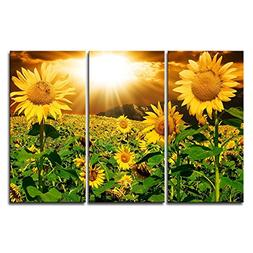 Canvas Print Wall Art Painting For Home Decor Bright Sunflow