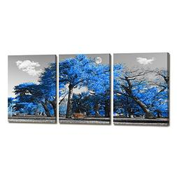 ARTLONGJI Canvas Print Wall Art Painting Contemporary Blue T