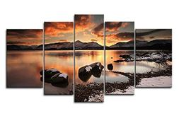 Canvas Print Wall Art Painting For Home Decor Mountain Lake