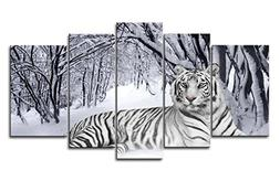 Canvas Print Wall Art Painting For Home Decor,White Tiger In