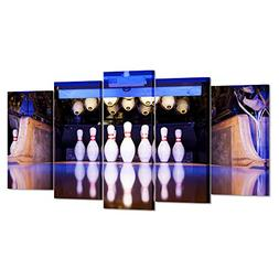 Kreative Arts - 5 Pieces Canvas Prints Wall Art Bowling Spor