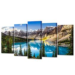 Kreative Arts - 5 Pieces Canvas Prints Wall Art Canada Morai
