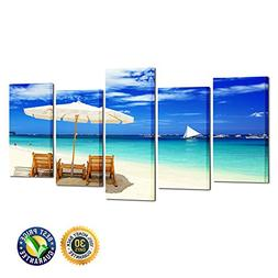 Kreative Arts - 5 Pieces Canvas Prints Wall Art Tropical Hol
