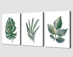 arteWOODS Canvas Wall Art Green Leaf Simple Life Painting 12
