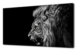 arteWOODS Canvas Wall Art Lion Painting Modern Large Panoram