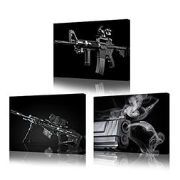 Kreative Arts 3 Pieces Canvas Wall Art Painting Sniper and R