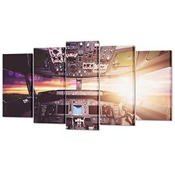 Kreative Arts Large Canvas Wall Art Prints Airplane Interior