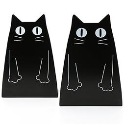 Fasmov Cartoon Cat Bookends Nonskid Bookend,1 Pair
