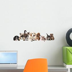 Wallmonkeys Cat and Dog Wall Decal Peel and Stick Graphic  W