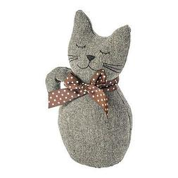 Cat Door Stop Jasper Vintage Fabric Decorative Home Office D