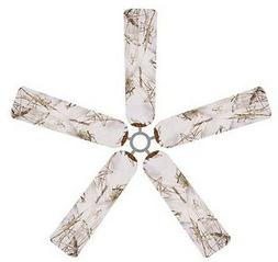 Ceiling Fan Blade FABRIC Cover SNOW 5pcs home/office decor w