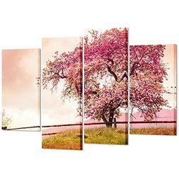 Kreative Arts Large 4 Piece Cherry Blossom Tree Canvas Print