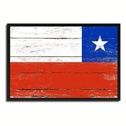 Chile National Country Flag Shabby Chic Canvas Print Picture