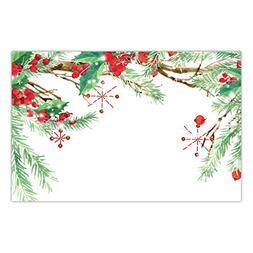 Christmas Luncheon Paper Table Placemats 25 Pack Lovely Holl