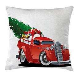 Ambesonne Christmas Throw Pillow Cushion Cover, Vintage Amer